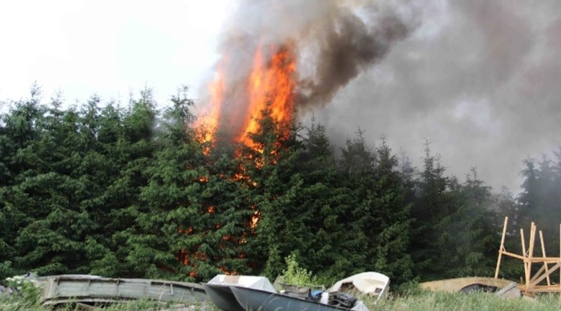 Pożar zakładu produkcji łodzi - zbiórka
