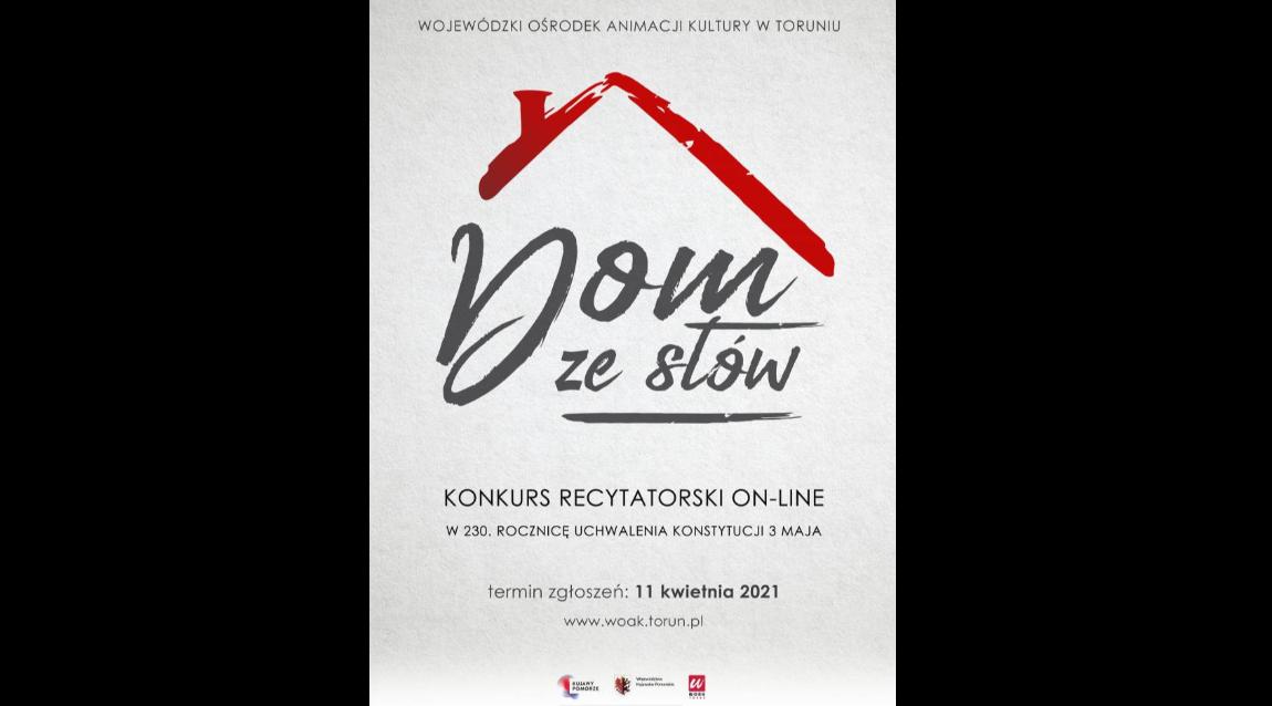 Konkurs recytatorski on-line  Dom ze słów